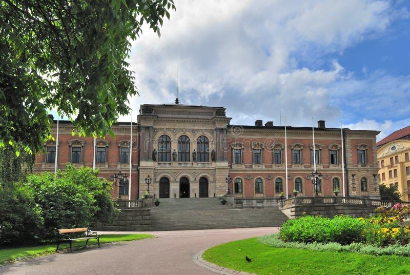 Suecia. Universidad de Uppsala fotografía de archivo