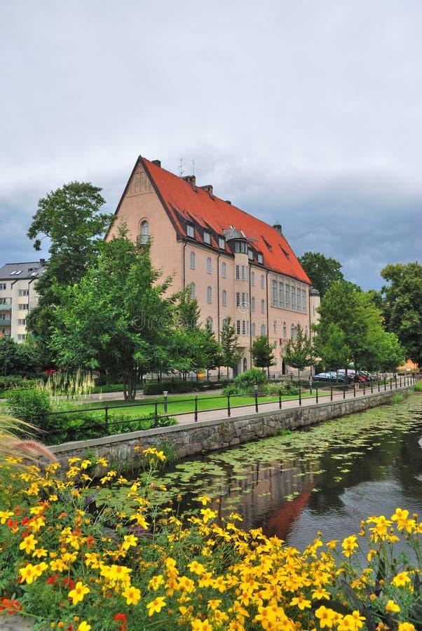 Suecia. Uppsala floreciente antes de la tormenta fotografía de archivo libre de regalías
