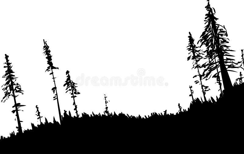 Sueco Forest Background Outline ilustração do vetor
