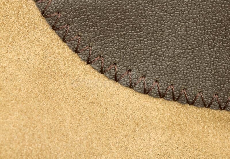 Suede och läder arkivfoton