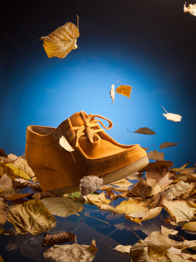 Suede shoes royalty free stock photos