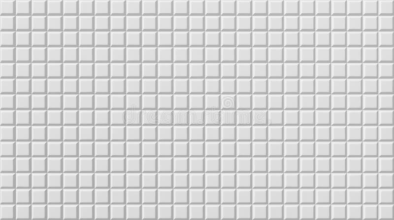 Suelo blanco de la teja, fondo inconsútil de la textura, 3d ilustración del vector