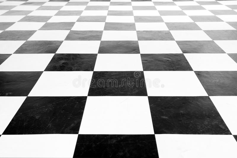 suelo blanco y negro cuadrado de la vendimia foto de