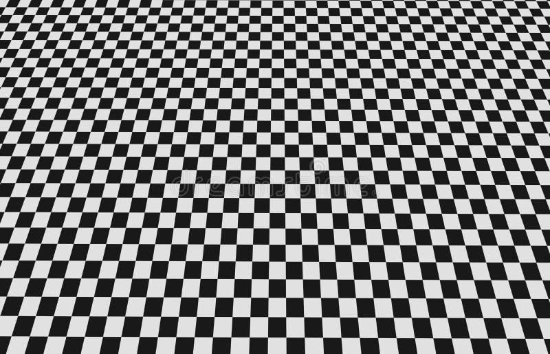 Suelo Checkered stock de ilustración