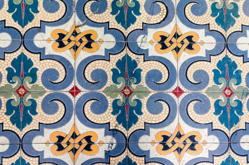 Suelo de baldosas antiguo del mosaico imagen de archivo