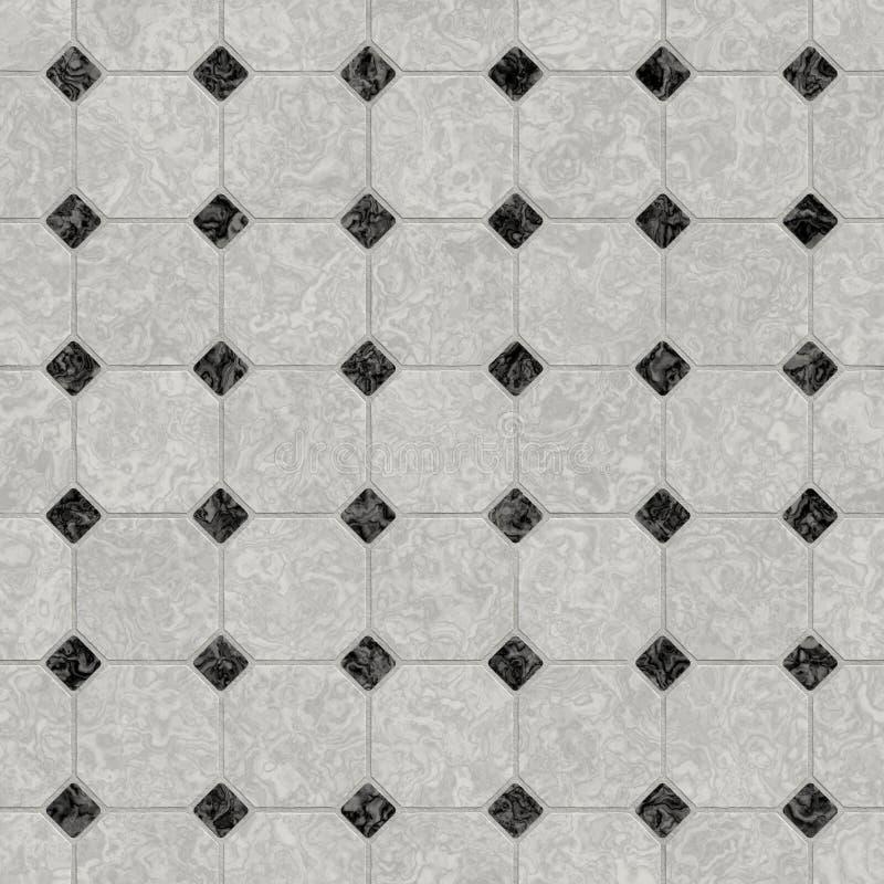 Suelo de mármol blanco y negro elegante ilustración del vector