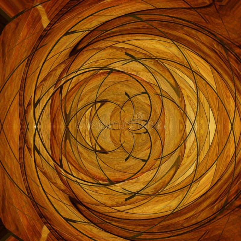 Suelo de madera stock de ilustración