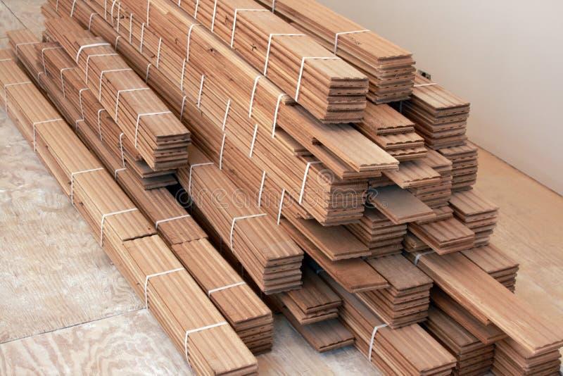 Suelo de madera dura imagen de archivo