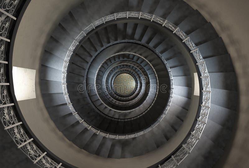 ' suelo del th 10 de la escalera espiral de la vendimia libre illustration