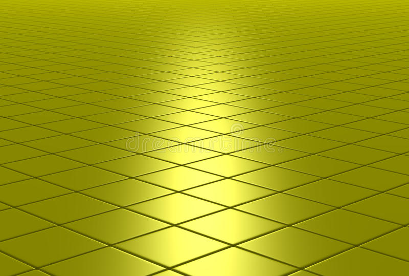 Suelo embaldosado brillante del oro imagenes de archivo
