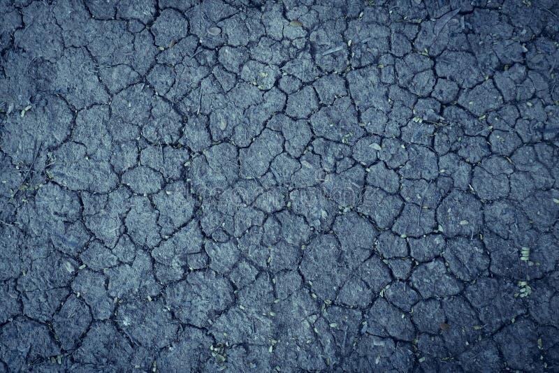 Suelo seco agrietado después de ninguna agua de lluvia de largo plazo, fondo seco triste de la tierra del extracto fotografía de archivo libre de regalías