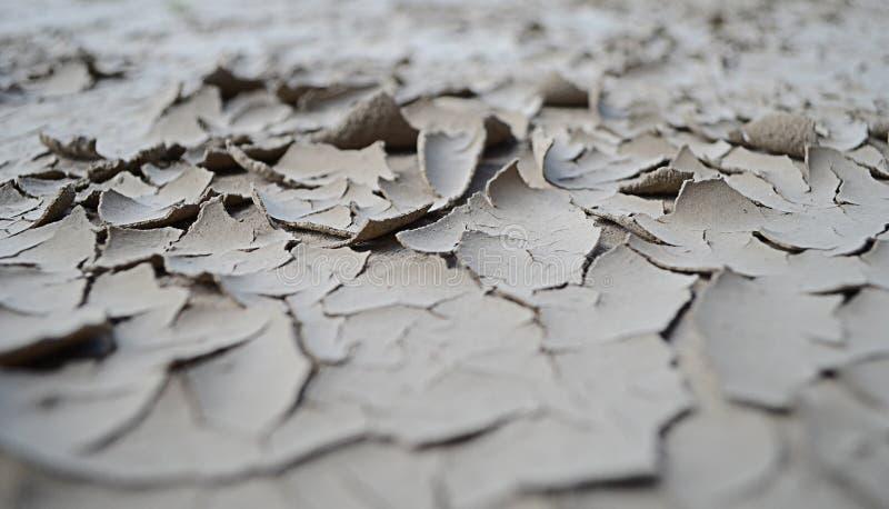 Suelo seco en el río imagenes de archivo