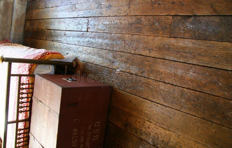 Suelos de madera reclamados imagenes de archivo