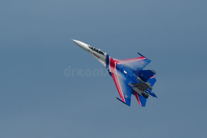 Suen-27 av ryska riddare royaltyfri foto