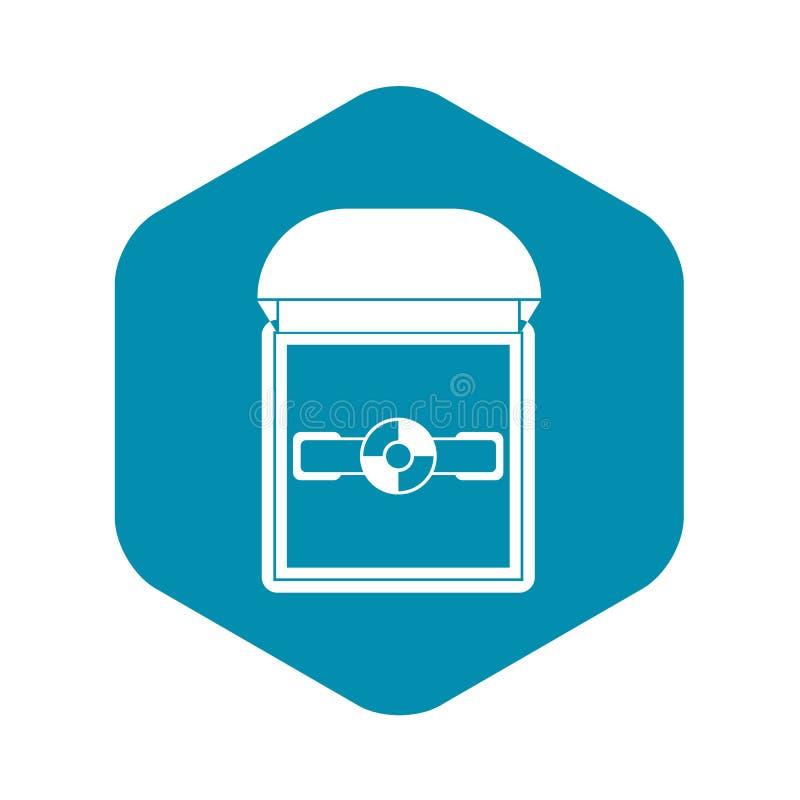 Suene en un icono de la caja del terciopelo, estilo simple ilustración del vector