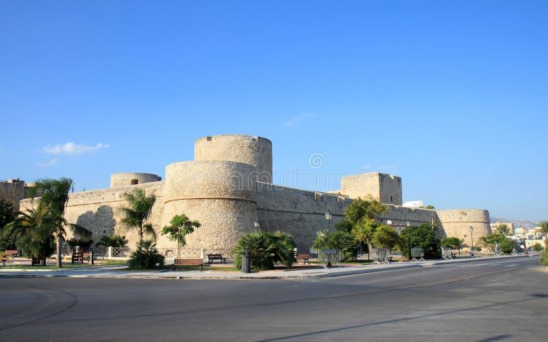 Suevian-Schloss von Manfredonia, Italien stockfotos