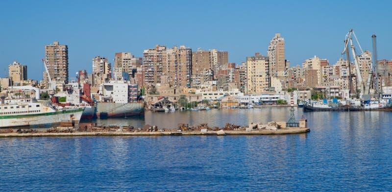 Suez, Egypt. Suez on Suez Canal, Egypt royalty free stock photos
