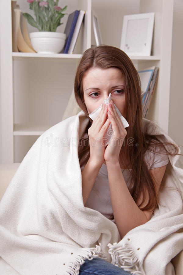 Download She suffers a cold stock photo. Image of allergies, allergic - 23987084