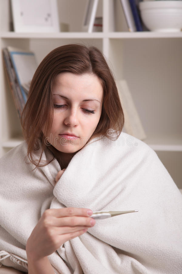 Download She suffers a cold stock image. Image of portrait, girls - 24110655