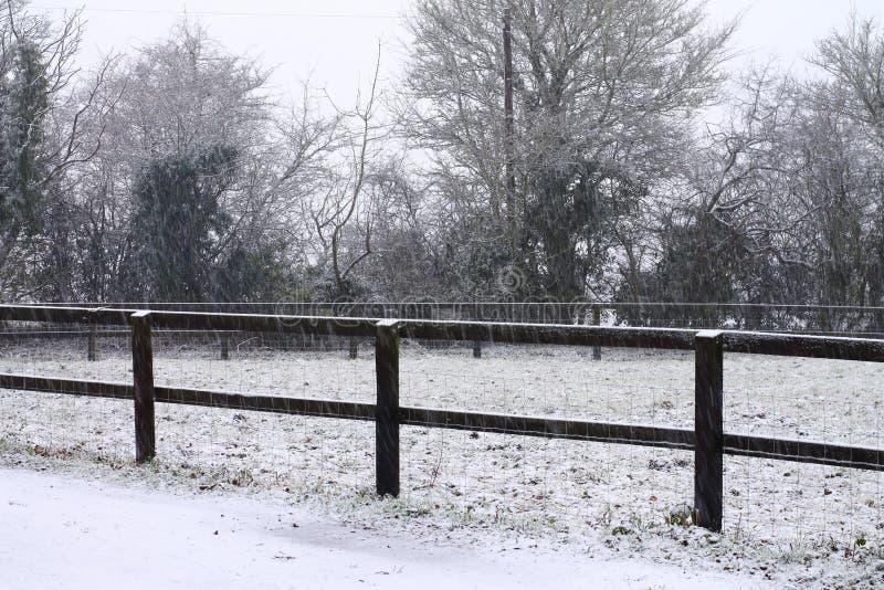 Suffolk śniegu scena zdjęcie royalty free