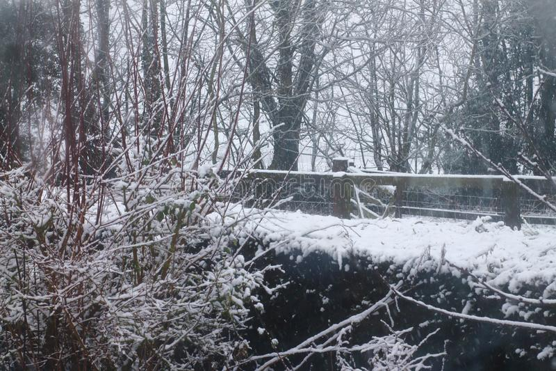 Suffolk śniegu scena obrazy royalty free