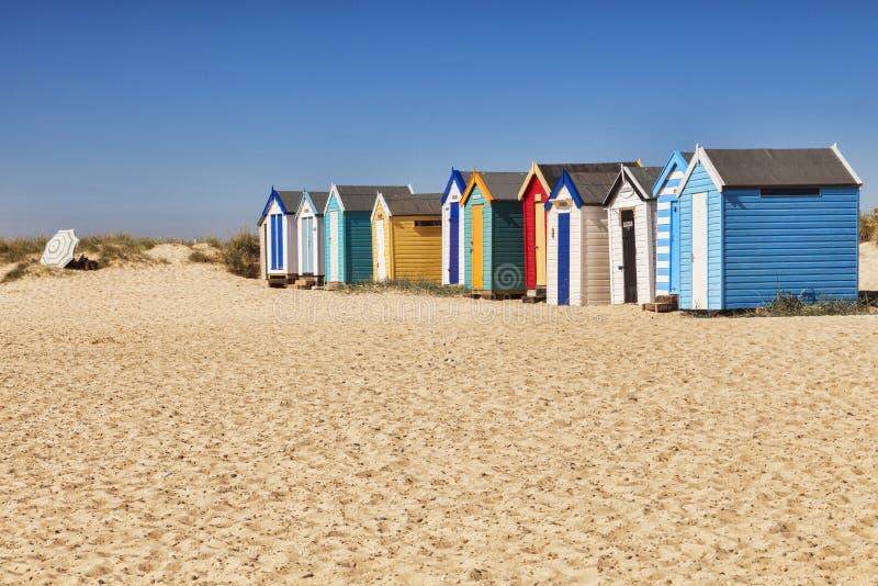 Suffolk Reino Unido de Southwold de las chozas de la playa fotografía de archivo libre de regalías