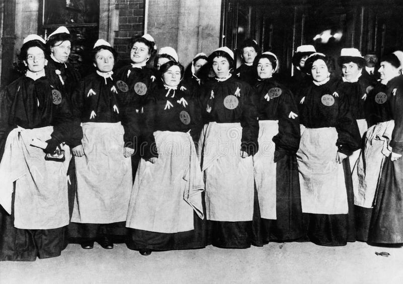 SUFFRAGE WOMEN. (All persons depicted are no longer living and no estate exists. Supplier grants that there will be no model release issues stock photos
