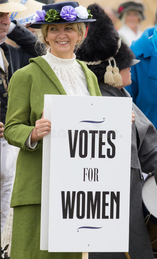Suffragette - Votes for women stock photos