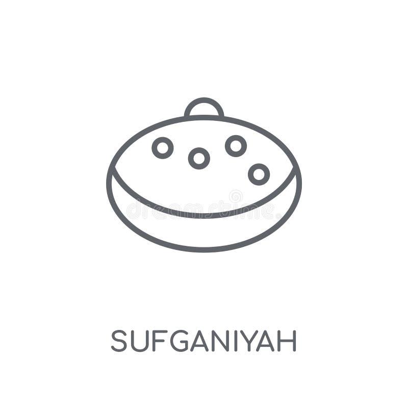 Sufganiyah linjär symbol Modern nolla för begrepp för översiktsSufganiyah logo royaltyfri illustrationer