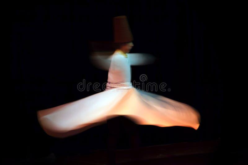 Sufi dansareIs Dancing With Sufi musik royaltyfri foto