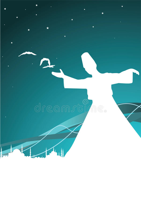 sufism stock illustrationer