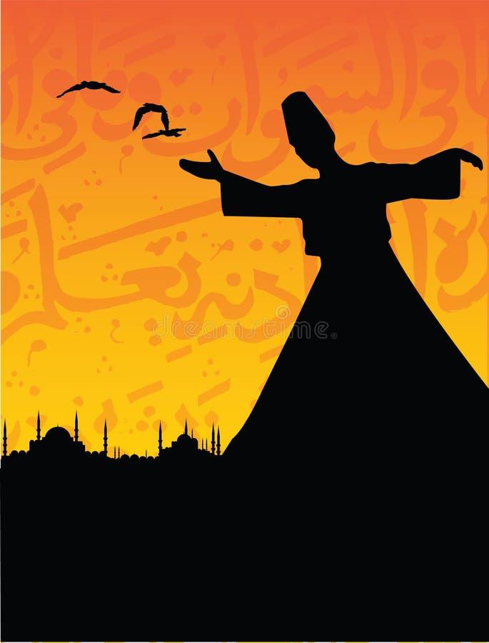 Download Sufism stock vector. Image of birds, costume, dress, arabic - 12459043