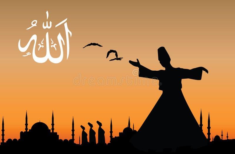 Sufism ilustração do vetor