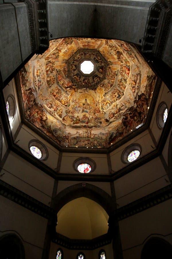 Sufit Duomo w Florencja, Włochy Uwypuklać mnogi obrazy stock