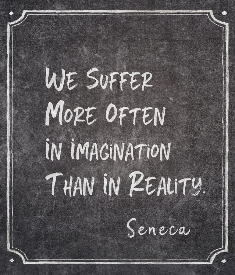 Sufra más cita del Seneca foto de archivo libre de regalías