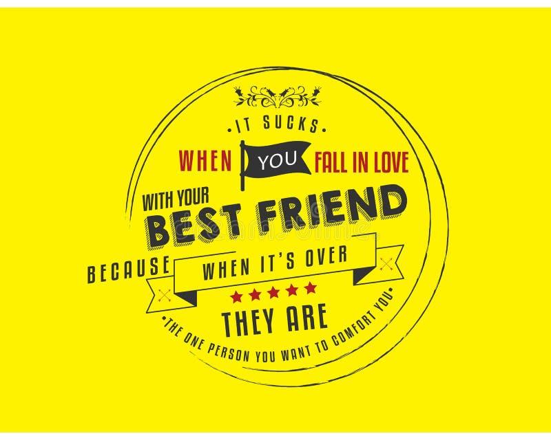 Suga quando você cai no amor com seu melhor amigo ilustração stock