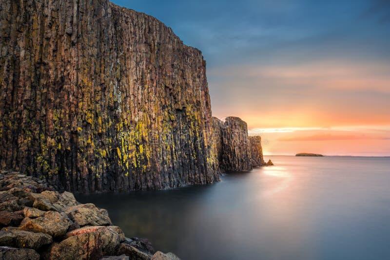 Sugandisey, la isla del basalto fotografía de archivo libre de regalías