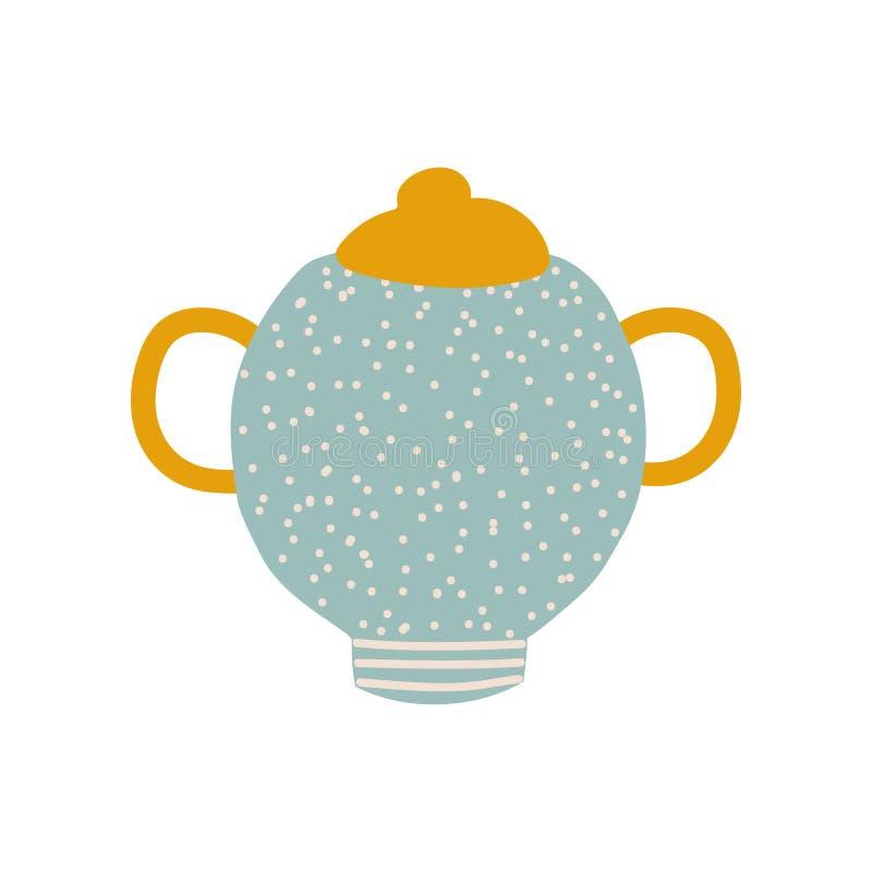 Sugar Bowl, illustrazione ceramica sveglia di vettore delle terrecotte illustrazione di stock