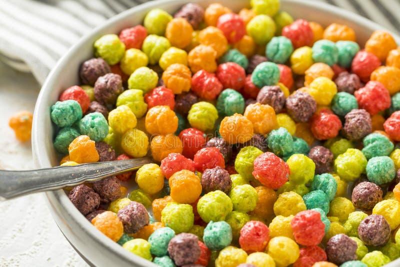 Sugar Breakfast Cereal coloré photo stock