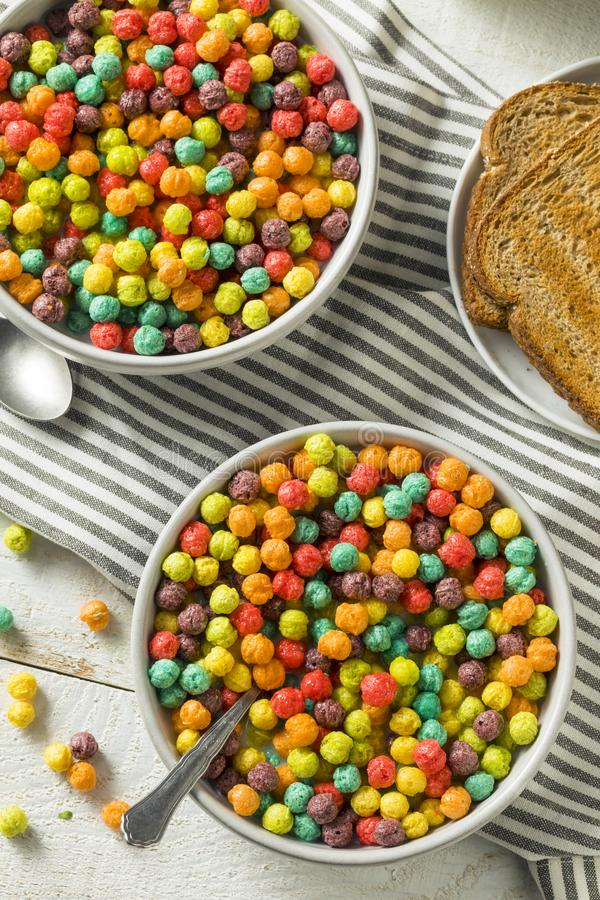 Sugar Breakfast Cereal coloré images stock