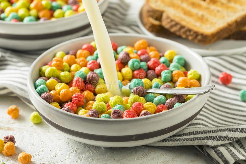 Sugar Breakfast Cereal variopinto fotografia stock