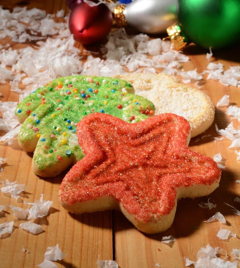Sugar Christmas Cookies stock images