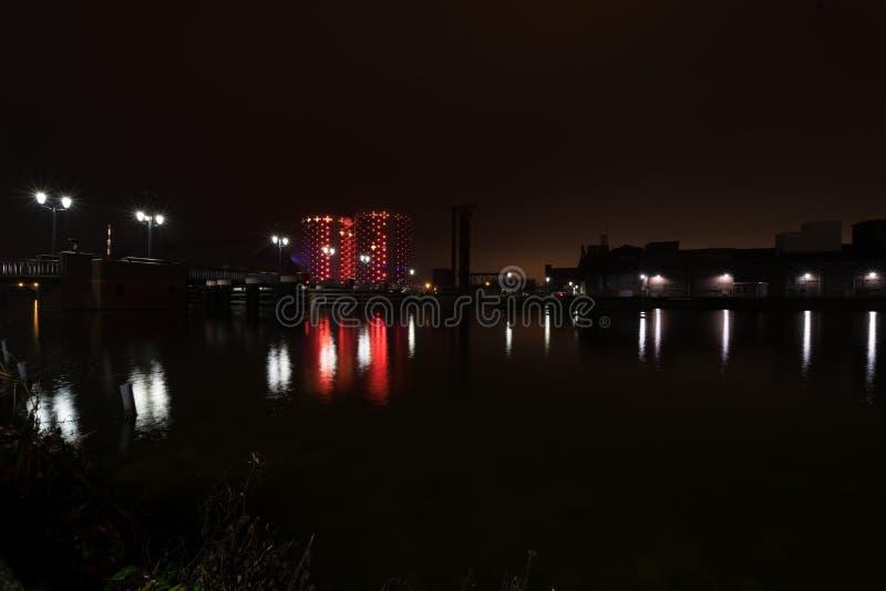 Sugar City na noite fotografia de stock
