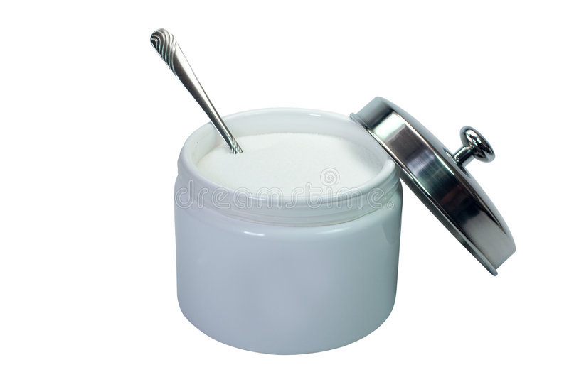 Download Sugar (with clipping path) stock photo. Image of container - 8162556