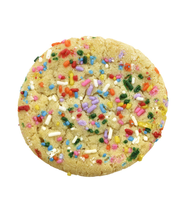 Sugar Cookie With Colorful Sprinkles royalty-vrije stock afbeeldingen
