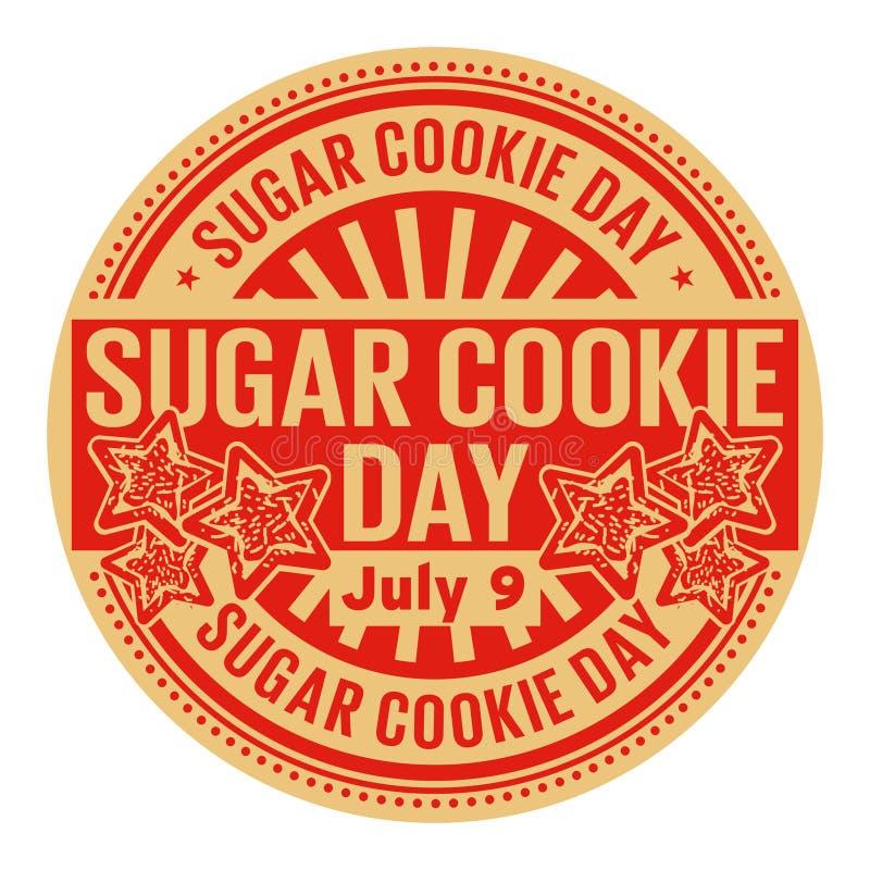 Sugar Cookie Day, o 9 de julho ilustração do vetor