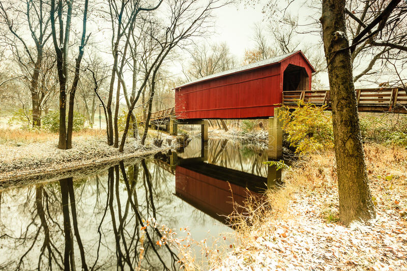 Sugar Creek Coverd Bridge fotografia stock