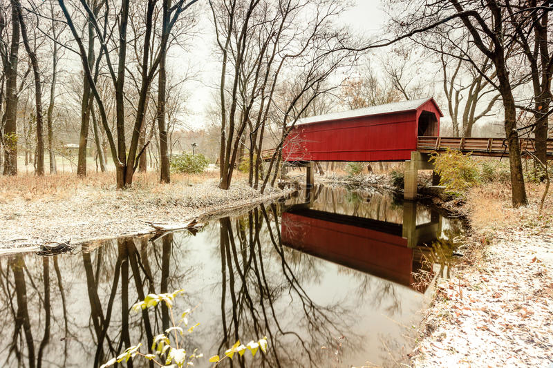 Sugar Creek Covered Bridge immagini stock