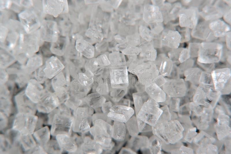 Sugar Crystals Macro blanco imágenes de archivo libres de regalías