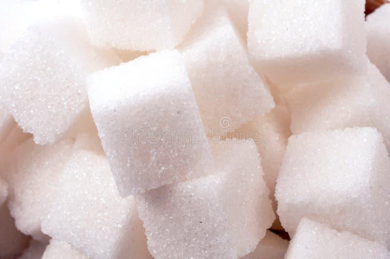 Sugar cubes. Very closeup shot of sugar cubes stock image